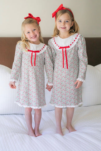 Lila & Hayes Emersyn Christmas Floral Gown PRESALE