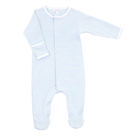 Magnolia Baby Essentials Blue Stripe Footie