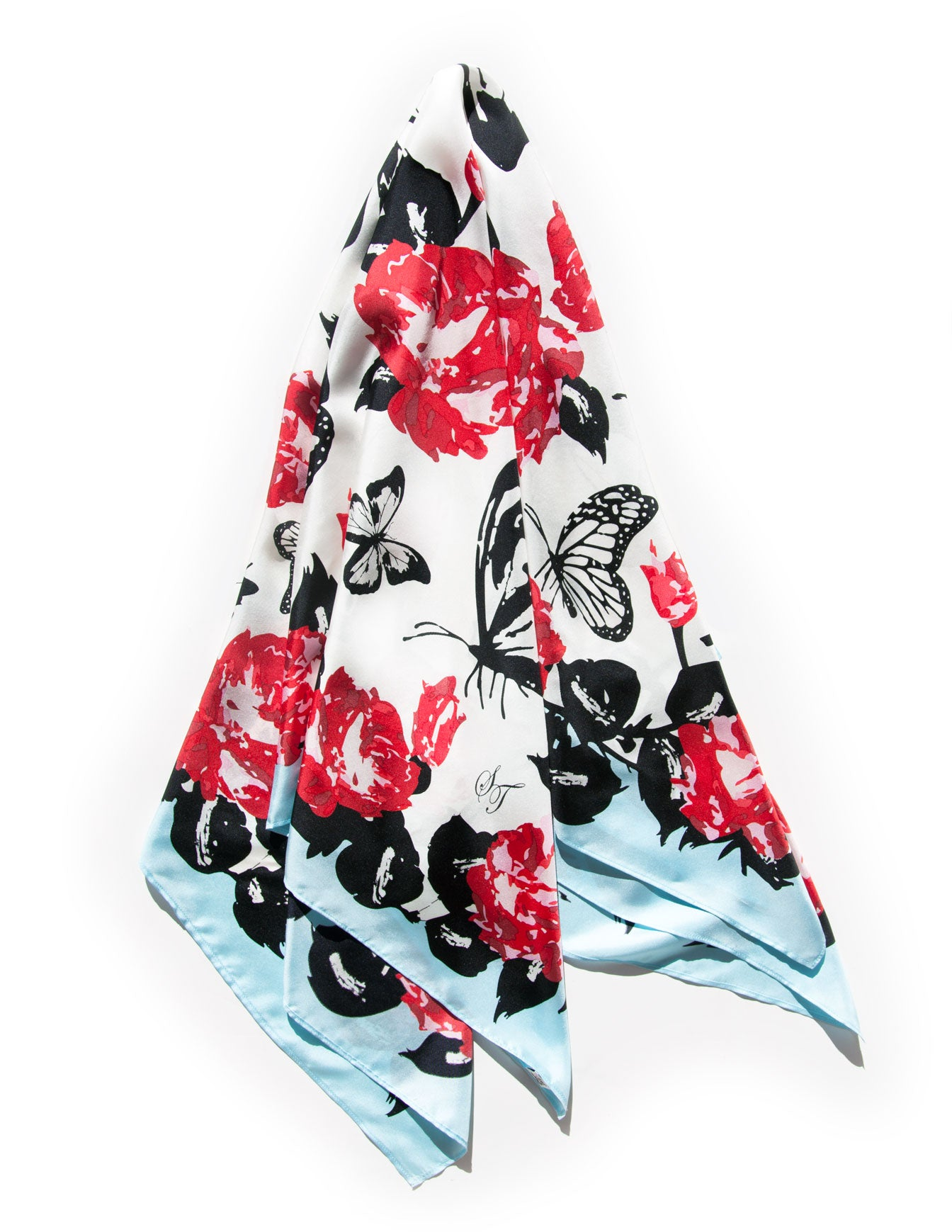The English Garden Silk Twill Scarf