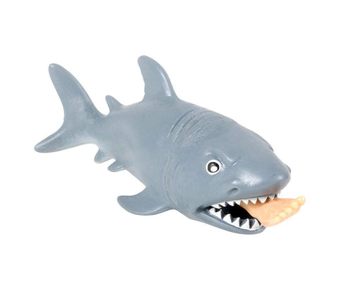 Mozlly Squeezeable Chomping Great White Shark Stress Toy - 4.75 inch - Novelty Figures (12pc Set)