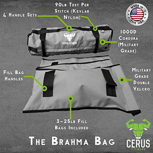 Cerus Fitness Sandbags - Sandbags for Fitness, Heavy Duty Workout Sandbags for Training, Functional Fitness, Cross-training with Adjustable Weight - Made in the USA