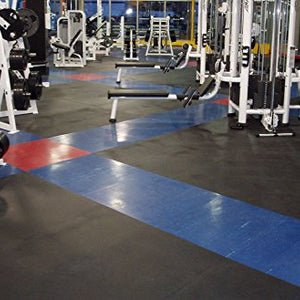 IncStores Premium 3/8in x 4ft x 6ft Rubber Gym Flooring Mats - Vulcanized High Quality Rubber Flooring Equipment Mats