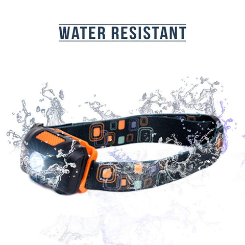 LED Headlamp Flashlight - Great for Camping, Hiking, Dog Walking, & Kids. One of the Lightest (2.6 oz) Cree Headlight. Water & Shock Resistant with Red Strobe. Duracell Batteries Included.
