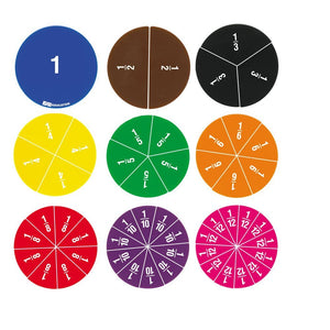 EAI Education Deluxe Fraction Circles: Numbered - Set of 51
