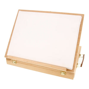 US Art Supply Solid Solana Adjustable Wood Desktop Table Easel with Drawer