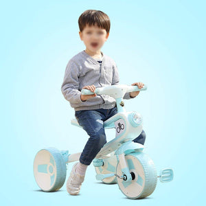 Tricycle Children Pedal Ride-On Bike 3-5-6 Years Old Balance Car Sliding Kick Car 2 In 1 Baby Toddler Outdoor Toy Car Color Optional,724740cm