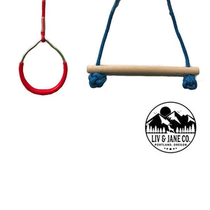 Attachment Handles For Ninja Training Line - Obstacle Course Accessories For Backyard Warrior Fun and Fitness -