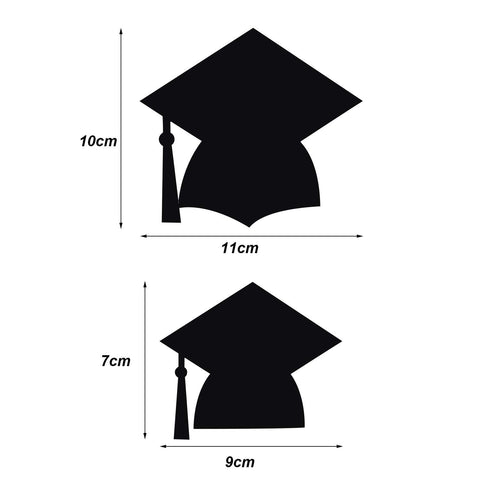 Bememo 2 Sets Grad Cap Photo Clip Banner Garland for 2018 Graduation Party Decorations Supplies, Black