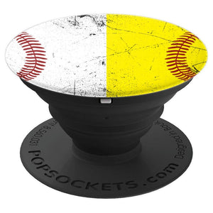 Baseball Softball - PopSockets Grip and Stand for Phones and Tablets
