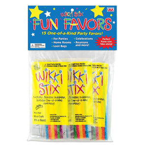 Wikki Stix Party Favor Pak, Pack of 15 Molding & Sculpting Sticks