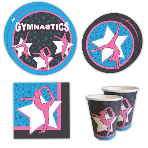 Blue Orchards Gymnastics Standard Party Packs (65+ Pieces for 16 Guests!), Gymnastics Party Supplies, Birthday, Decorations, Competition