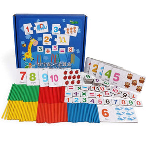 DD Learning Box-Math Education Toys for Kids,Preschool Teaching Tool,Number Puzzle Block and Number Counting Sticks