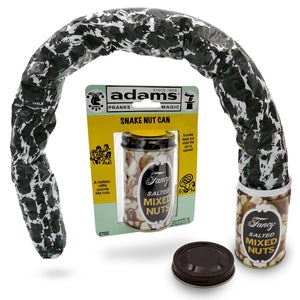 Adams Pranks & Magic - Jumping Snake Mixed Nuts Can - THE Classic Snake Can Gag Toy - Trick, Prank Toys for Kids & Adults