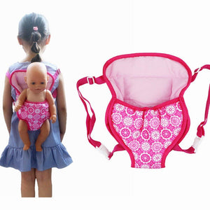 XADP Baby Doll Carrier Backpack Doll Accessories Front/Back Carrier with Straps- Fits 15 to 18 Inch Dolls