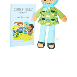 "The Ameena Doll - Soft 12"" Muslim Baby Doll with Children's Storybook - Selma's Dolls"