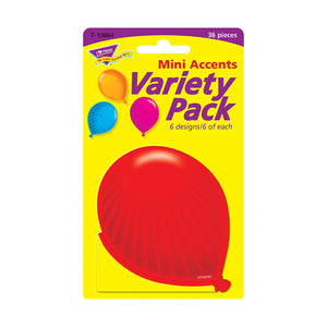 TREND enterprises, Inc. Party Balloons Mini Accents Variety Pack, 36 ct