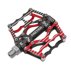 "Mzyrh Mountain Bike Pedals, Ultra Strong Colorful CNC Machined 9/16"" Cycling Sealed 3 Bearing Pedals"