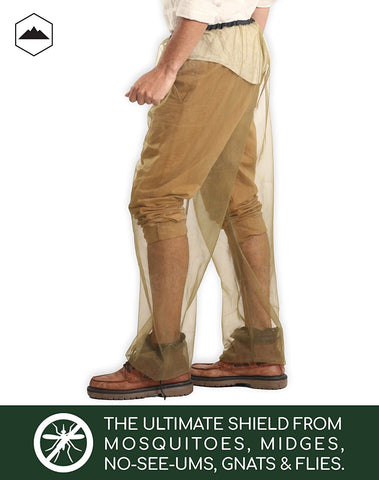 Bug Pants with Free Carrying Pouch - Anti Mosquito Net Repellent Pants - Ultimate Protection from Bugs, No-See-Ums, Midges. Perfect for Hiking, Camping, Traveling, Fly Fishing & Outdoor Activities