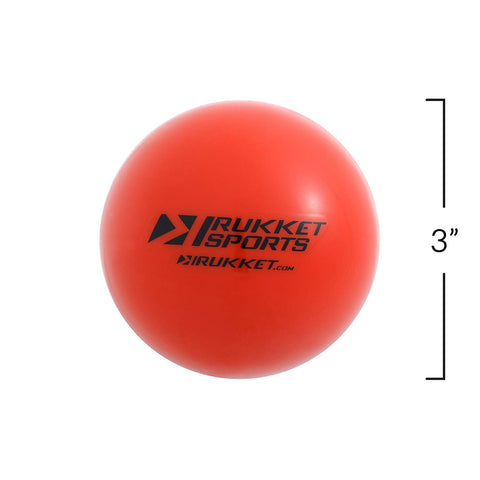 Rukket 15pk Weighted Baseball/Softball Heavy Training Balls | Practice Hitting, Batting and Pitching with Complete Control Powerball (1 pound, 3-inch diameter) includes Bucket