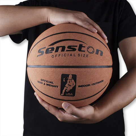 "Senston Basketball Ball Official Size 7 (29.5"") Outdoor/Indoor Game Ball Street Basketball Basketballs With Pump, Needles, Basketball Net"