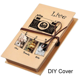 Mudder Scrapbooks Hardcover Photo Albums 4 x 6 Inch Photos Hand Made Kraft Paper for DIY Scrapbooking Anniversary Sketchbook Wedding Valentines Day Gifts