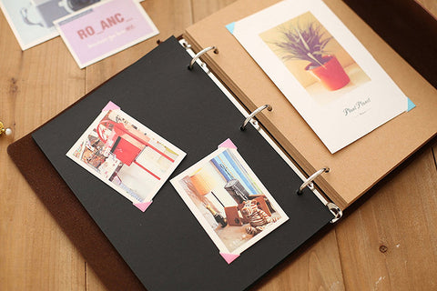 Zoview Adhesive Scrapbook Photo Album Memory Book , 60 Pages Hand Made DIY Albums ,Coffee