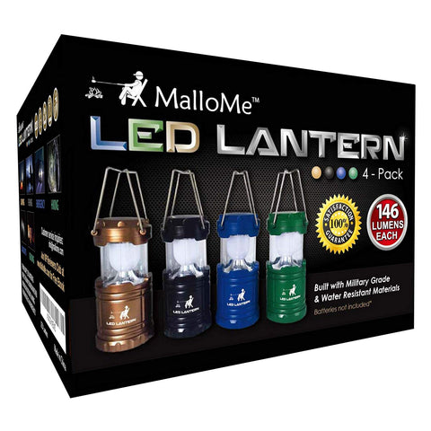 MalloMe LED Camping Lantern Flashlights Camping Gear Accessories Equipment - Great for Emergency, Tent Light, Backpacking