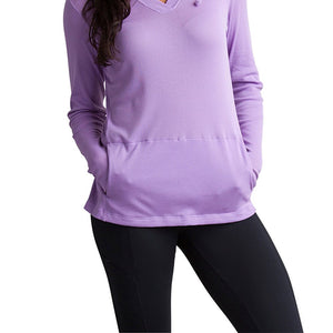 ExOfficio Women's BugsAway Lumen Lightweight Pullover Hoody- Insect, Tick, Mosquito Repellent Permethrin Clothing