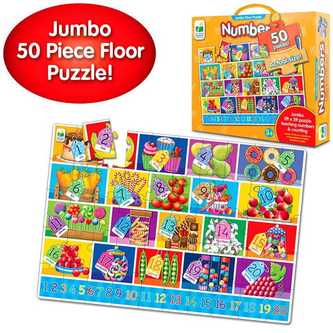 The Learning Journey Jumbo Numbers Floor Puzzle