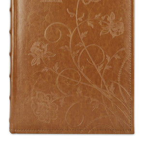 Golden State Art Brown Floral Faux Leather Cover Photo Album For 300 4x6 Pictures, 3 Per Page
