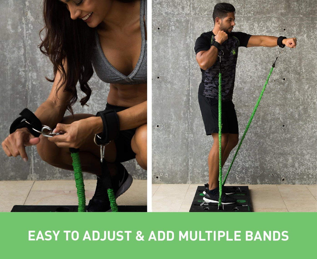 Handles Full Body Workout Resistance Bands Bar Portable Complete Home Gym