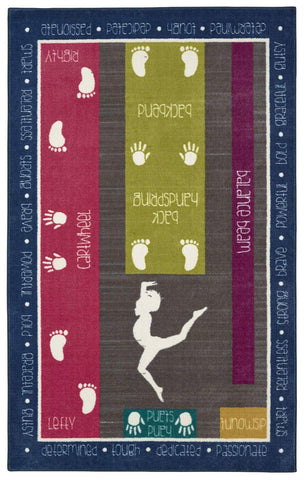 Mohawk Home Aurora Gymnastics Fun Kids Printed Area Rug, 5'x8', Multicolor