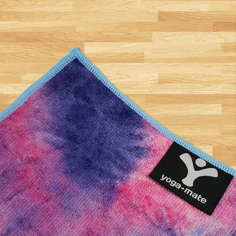Yoga Mate Perfect Yoga Towel - Super Soft, Sweat Absorbent, Non-Slip Bikram Hot Yoga Towels | Perfect Size For Mat - Ideal For Hot Yoga & Pilates!