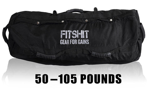 FITSHIT Sandbag for Training Workouts - 50lb -110lbs Heavy Duty - Durable Functional Fitness Weighted Sandbags …