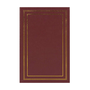 DesignOvation Traditional Photo Albums, Holds 300 4x6 Photos, Set of 4, Burgundy Red