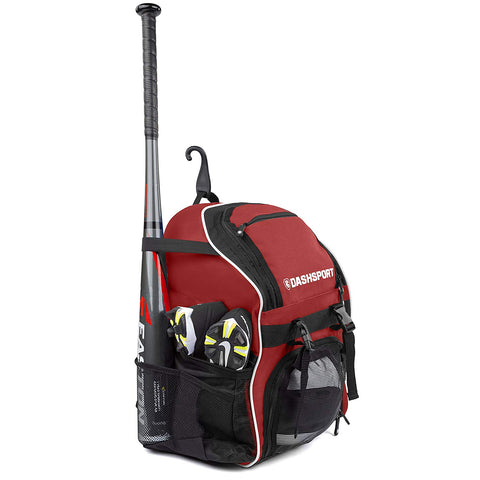 DashSport Baseball Bag Softball Backpack Bat Bag for Youth and Adults | Kids T-Ball Equipment and Softball Bag | Gear for Girls and Boys | Youth Bat Pack