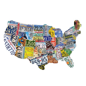 TDC Games USA License Plates Jigsaw Puzzle – 1,000 Pieces