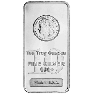 Silver Bars 10 Oz Morgan Design