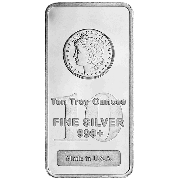 10 oz Silver Bars - Morgan Design