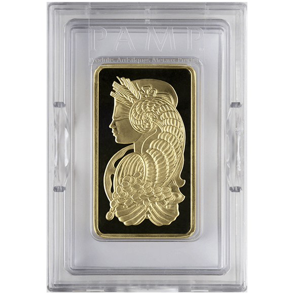 10 oz Pure Gold Bars - PAMP Suisse Lady Fortuna