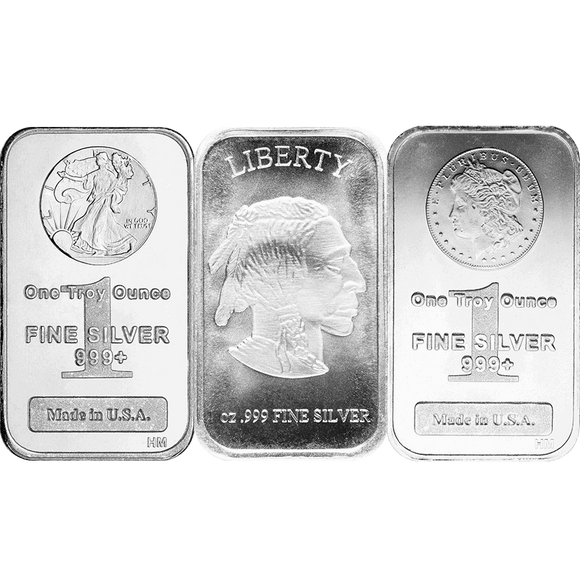 1 oz Silver Rectangle Bars IRA-Approved RSP Eligible