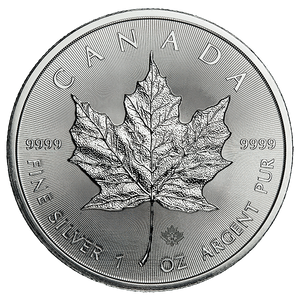1 oz Silver Canadian Maple Leaf Common Date