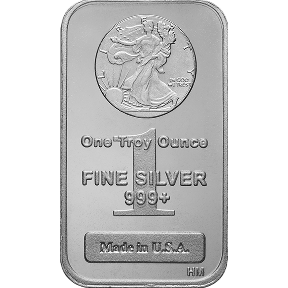 1 oz Silver Bars Walking Liberty Highland Mint IRA-Approved