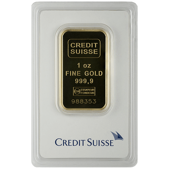 1 oz Gold Bar Credit Suisse