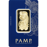 1 oz Pure Gold Bars - PAMP Suisse Lady Fortuna