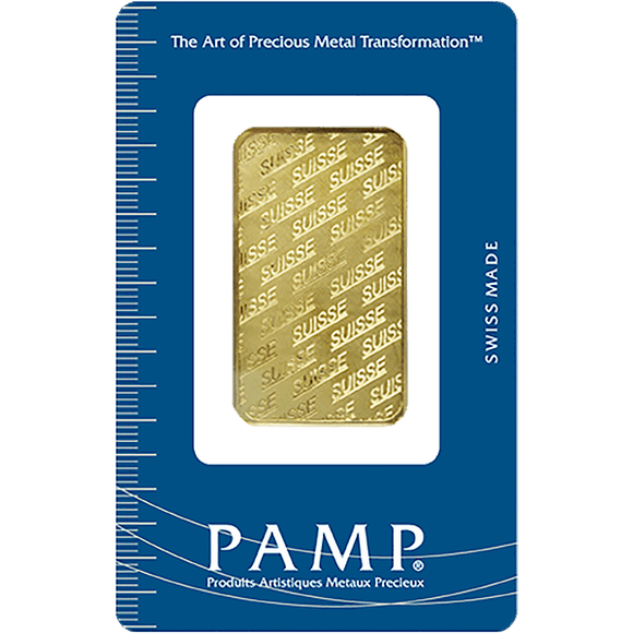 1 oz Pure Gold Bars - PAMP Non-Fortuna