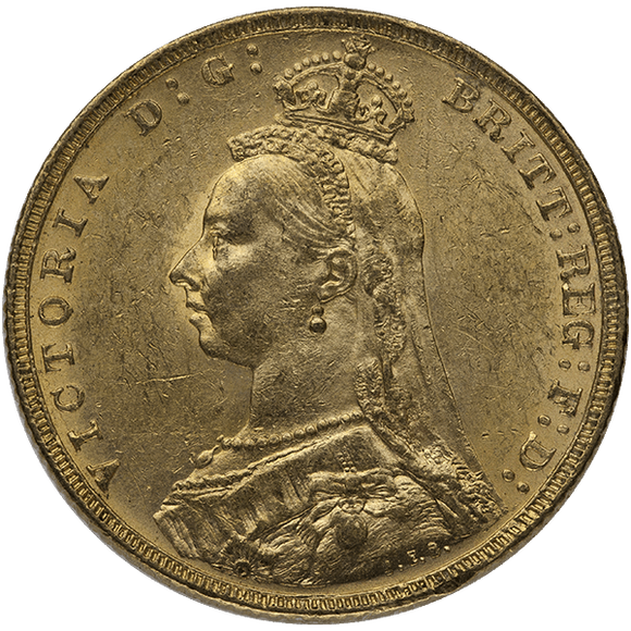 Gold World English Sovereign Queen Victoria Jubilee Coin