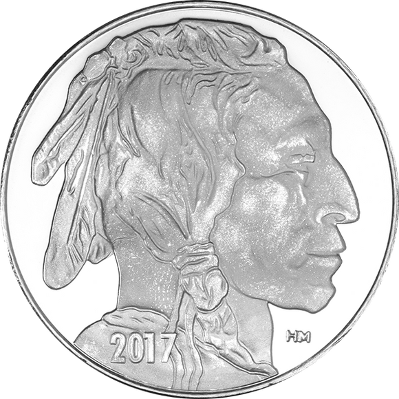 1 oz Silver Rounds Buffalo Highland Mint