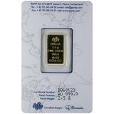 2.5 gram Pure Gold Bars - PAMP Suisse Lady Fortuna