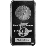 5 oz Silver Bars Walking Liberty Design Assorted Weight